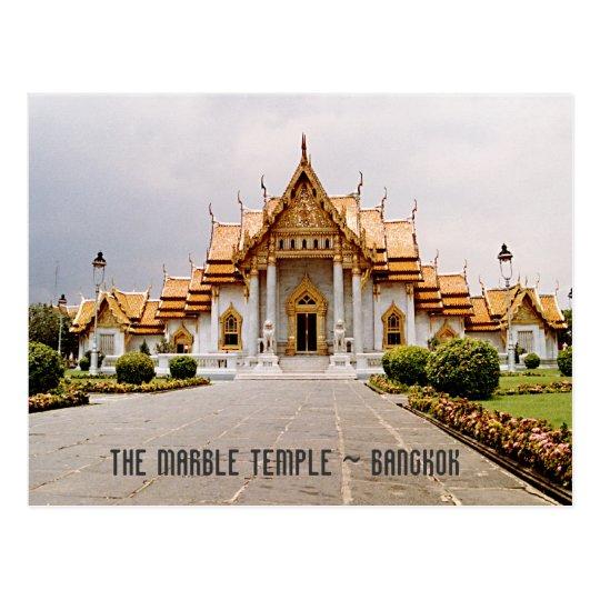 Temple de marbre d'or au-dessus de carte de