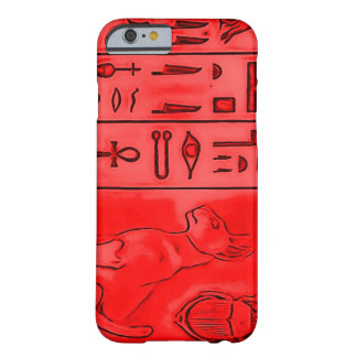 Temple rouge égyptien de pharaon coque iPhone 6 barely there