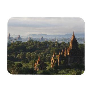 Temples au lever de soleil, Bagan, Myanmar Magnets Rectangulaires