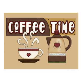 Temps de café cartes postales