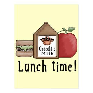 Temps de déjeuner carte postale