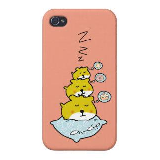 Temps de sommeil mignon de hamster coque iPhone 4