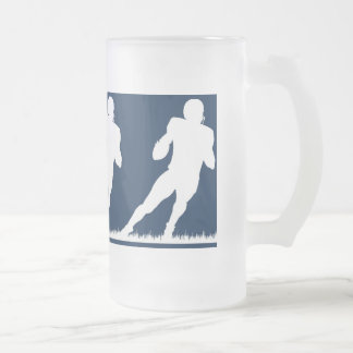 Temps du football frosted glass beer mug
