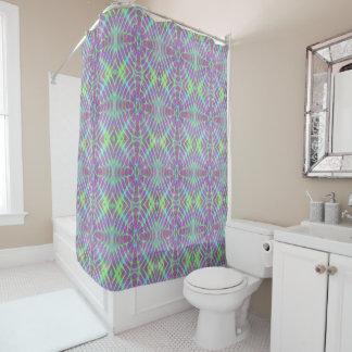 Temps glissant le rideau en douche