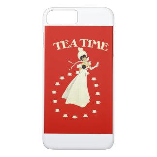 Temps rouge vintage de thé coque iPhone 7 plus