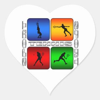 Tennis spectaculaire (femelle) sticker cœur