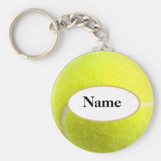 tennisball with your on it désagréable porte-clé rond