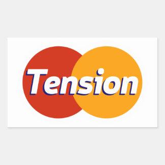 Tension d'argent sticker rectangulaire