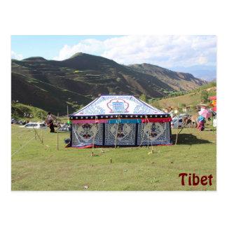 Tente de festival d'été carte postale
