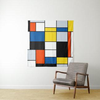 Tenture Composition A - art moderne abstrait en Piet