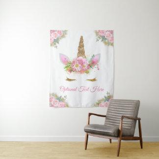 Tenture Murale Contexte de bannière de baby shower de licorne