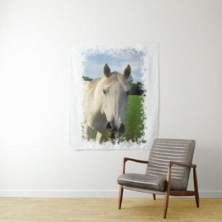 Tenture Murale Jument quarte grise de cheval