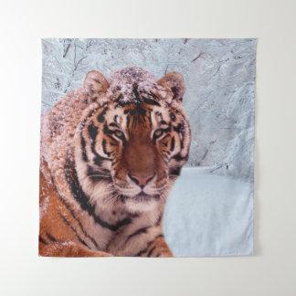 Tenture Murale Tigre et neige