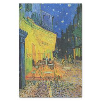Terrasse de café de Van Gogh | la nuit | 1888 Papier Mousseline