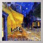Terrasse de café la nuit par Vincent van Gogh Poster