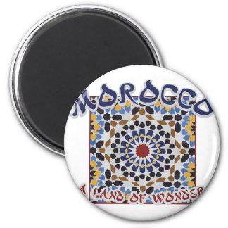 Terre du Maroc de merveille Magnet Rond 8 Cm