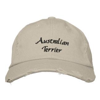 Terrier australien a brodé la casquette de