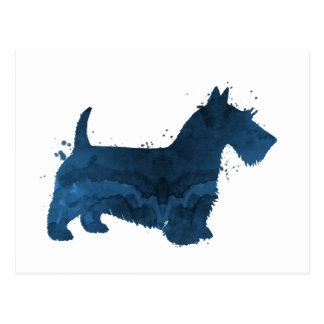 Terrier écossais carte postale