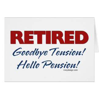 Teruggetrokken: Het Pensioen van Hello! Briefkaarten 0