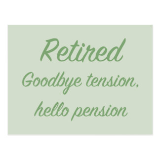 Teruggetrokken: Vaarwel spanning, hello pensioen Briefkaart