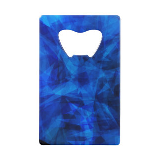 Tessons géométriques de glace bleue fraîche