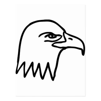 tête d'aigle carte postale