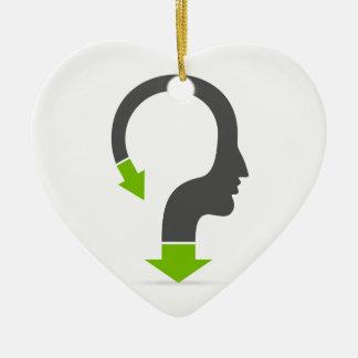 Tête de flèche ornement cœur en céramique