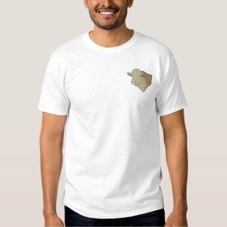 Tête de Hereford Taureau T-shirt Brodé