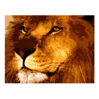 Tête de lion africain carte postale