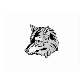 Tête de loup cartes postales