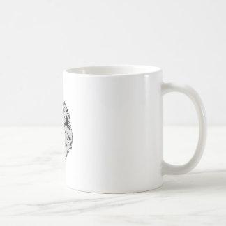 Tête de loup mug blanc