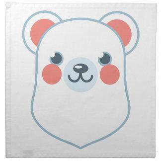 Tête d'ours blanc serviettes de table