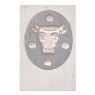 Tête vintage de taureau en métal papier à lettre customisé