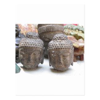 Têtes de Bouddha Cartes Postales