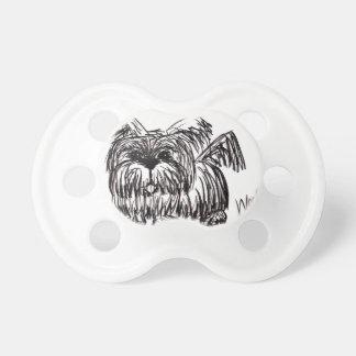 Tétine Aboyez un chien de balai de poussière