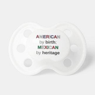 Tétine AMÉRICAIN par naissance ; MEXICAIN par héritage