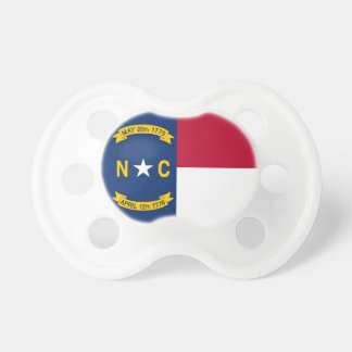 Tétine avec le drapeau de la Caroline du Nord,