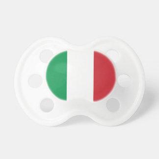 Tétine avec le drapeau de l'Italie