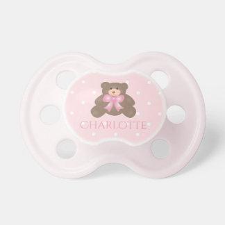 Tétine Bébé doux d'ours de nounours de ruban mignon de