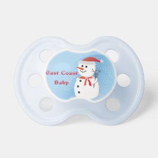 Tétine Bonhomme de neige rustique de Noël de bébé de Côte
