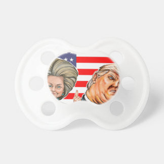 Tétine Caricature d'atout et de Hillary