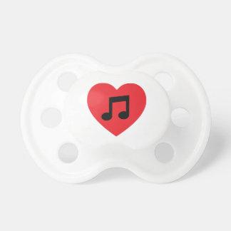 Tétine Coeur de note de musique