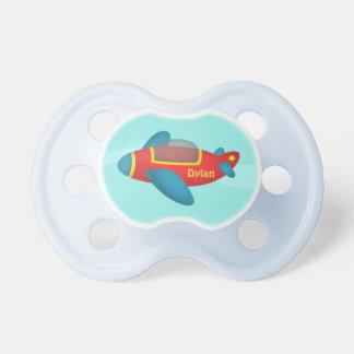 Tétine colorée mignonne de bébé de jet d'avion