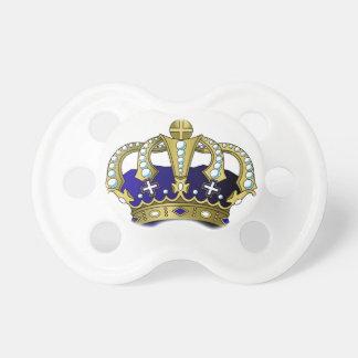 Tétine Couronne royale de bleu et d'or