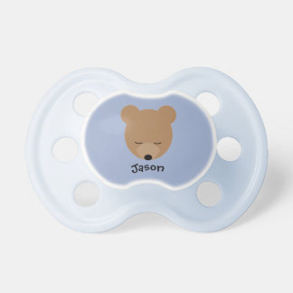 Tétine de bébé d'ours avec le nom