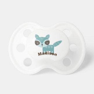 Tétine de bébé personnalisée par raton laveur