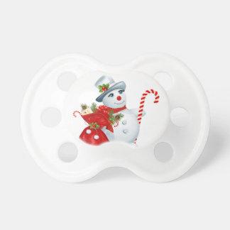 Tétine de bonhomme de neige de Noël