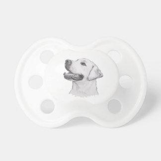 Tétine Dessin classique de profil de chien de labrador