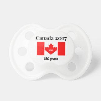 Tétine Drapeau de coeur du Canada 150 en 2017