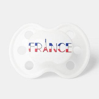 Tétine Drapeau de la France avec Tour Eiffel bleu, rouge,